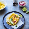Fish tacos with grilled corn and avocado