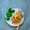 Chicken piccata with lemon and capers